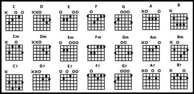 Guitare : Guide placement des doigts